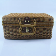 2019 new handmade hand-woven summer must enter the square large capacity wild shoulder shopping beach bag ladies