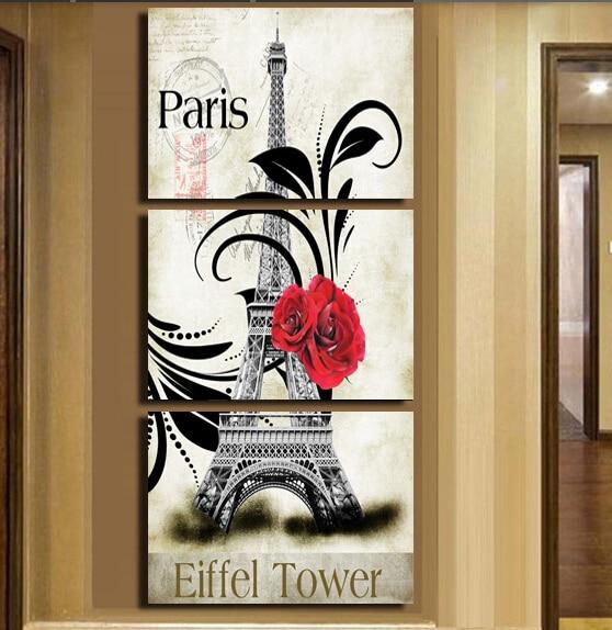 Arte enmarcado 3 Panel de decoración del hogar del arte abstracto de ...