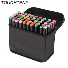 30/40/60/80/168 Drawing Pen Set Brush Markers Alcoholic Oily Based Ink Art Markers for Manga Dual Headed Sketch Art Supplies deli art marker set 36 48 60 80 108 colors markers manga drawing markers pen alcohol based sketch oily dual headed tip pen