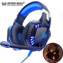 KOTION EACH Gaming Headphones Headset Deep Bass Stereo wired gamer Earphone Micr