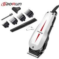 BaoRun Ultra Power Hair Clipper Professional Hair Trimmer for Men Electric Cutter Mute Cutting Machine Haircut with Cord 220V