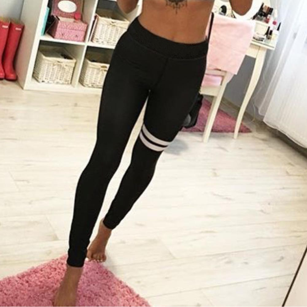 2017 Fitness Yoga Sports Leggings For Womens Yoga Workout Gym Leggings Fitness Sports Trouser Athletic Pants 2017 women compression sexy gym yoga shorts lulu training sports short jogging cycling fitness leggings athletic workout clothes