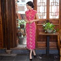 Shanghai Story Mordern Cheongsams long qipao dress chinese traditional clothing Lace chinese qipao dresses
