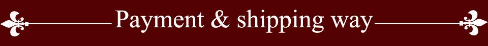 payment&shiping way