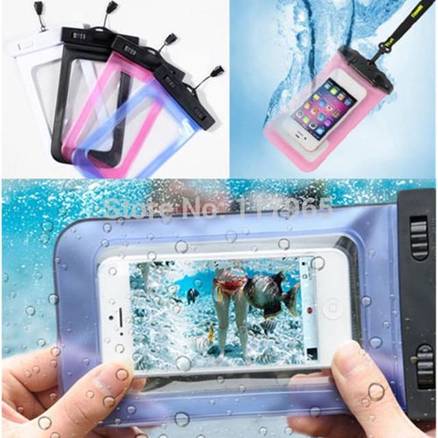 100% selado saco de pvc durável à prova d' água casos de telefone bolsa para iphone 4 7 4S 5 6 s plus para samsung s2/s3/s4/s5/s6/s7 bolsa ec723