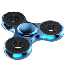 100pcs Tri-Spinner Fidget Toys Aluminum EDC Hand Spinner spin 3-5 mins Fidgets Autism ADHD Ceramic Rotation Funny gifts