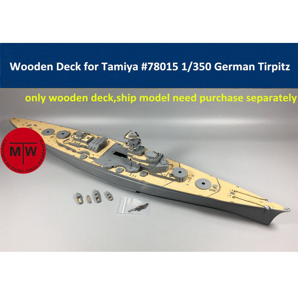 1/350 Scale Wooden Deck For Tamiya 78015 German Battleship Tirpitz Model CY350014