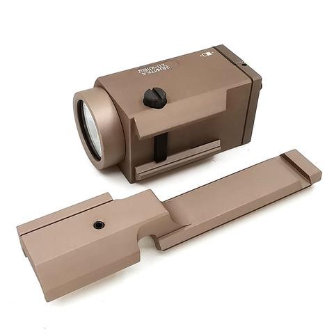 arma led lanterna caber 20mm picatinny ferroviario