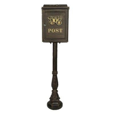 Вертикальный почтовый ящик из алюминиевого сплава вертикальный металлический ящик для почтовыx писeм деревенский почтовый ящик садовый уличная поставка - Цвет: Слоновая кость