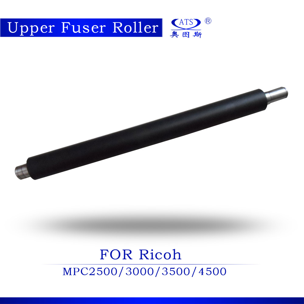 Free shipping 1PCS Photocopy Machine Upper Fuser Roller For Ricoh Aficio AF MPC2500 3000 3500 4500 heat roller copier part new copier parts 10pcs photocopy machine drum cleaning blade for ricoh aficio mpc9000 b234 3564 copier part cleaning blade