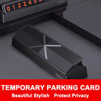 QHCP Car Parking Card Phone Number Plate Stickers Hidden Replace Temporary Car Park Stop Drawer Style Protect Privacy Universal