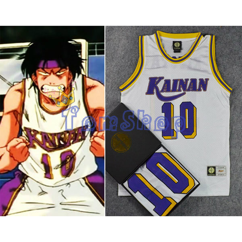 Anime SLAM DUNK Costume Kainan School #10 NOBUNGA KIYOTA Cosplay Basketball Jersey Shirt Sportswear Team Uniform Size M L XL XXL