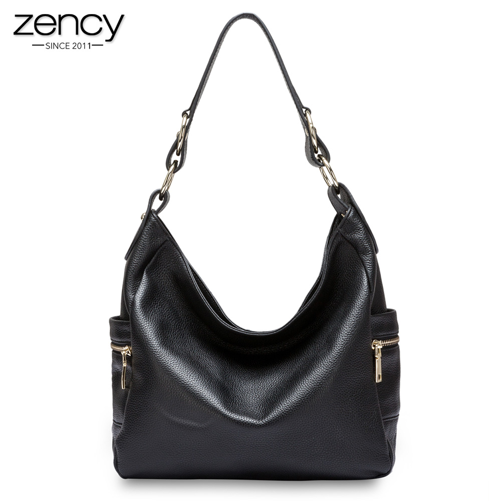 Zency Elegant Fashion Women Shoulder Bag 100% Genuine Leather Large Capacity Ladies Messenger High Quality Handbag bolso mujer