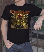 Orden T Camisas crew Masajeadores de cuello cinco dedos de la muerte Punch banda de metal rock S-XXXL manga corta Camiseta para hombre camisa