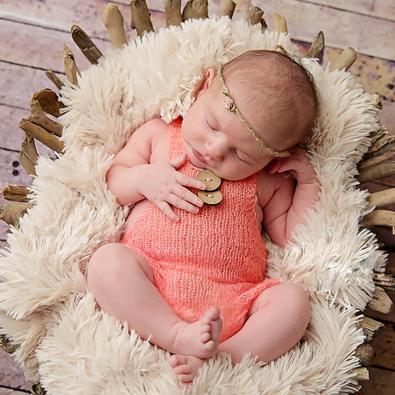 Newborn Baby Cute Crochet Romper Knit Costume Prop Photo Photography Baby Hat Photo Props New born baby girls Cute Outfit newborn baby photography props infant knit crochet costume peacock photo prop costume headband hat clothes set baby shower gift page 2