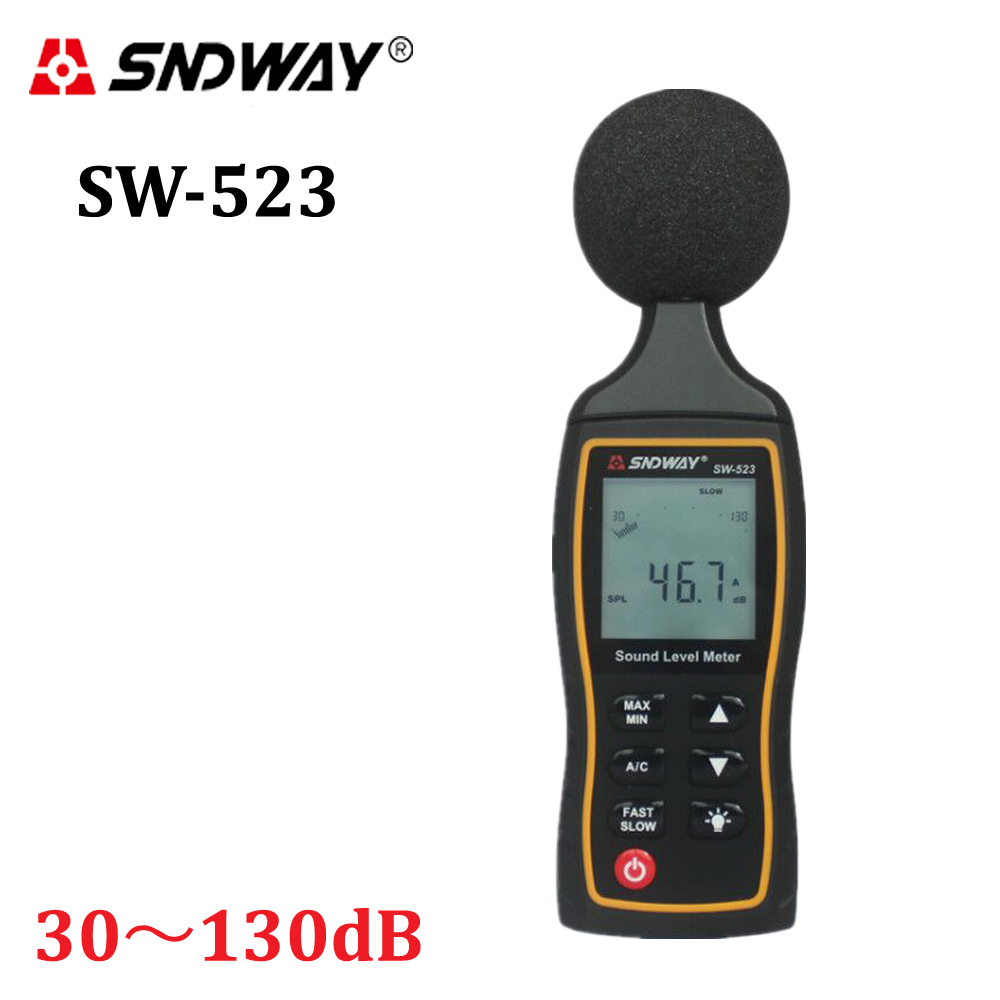 2017 New LCD Digital Sound Noise Level Describe Meter 30-130dBA 1.5 dB Accuracy Digital Sound Level Meter Backlight noise tester