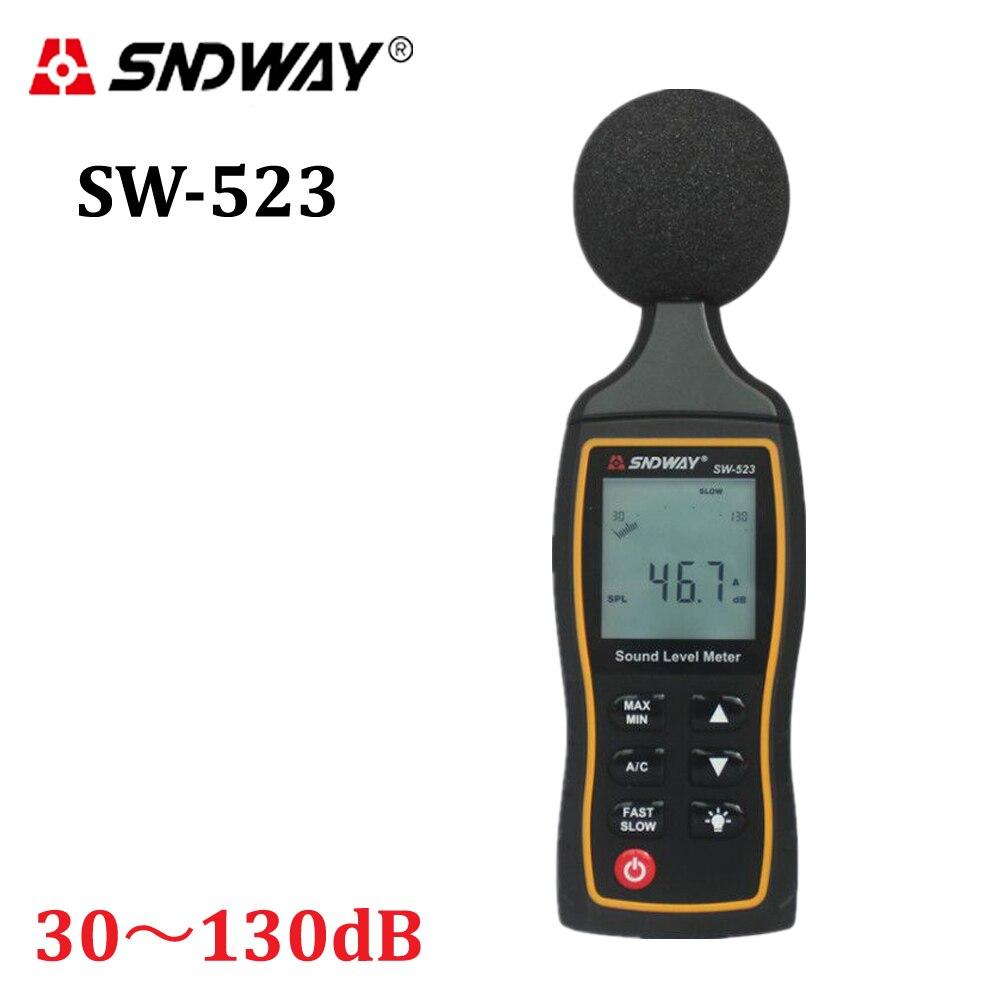 2017 Neue Lcd Digital Sound Noise Ebene Beschreiben Meter 30-130dba 1,5 Db Genauigkeit Digital Sound Level Meter Hintergrundbeleuchtung Lärm Tester