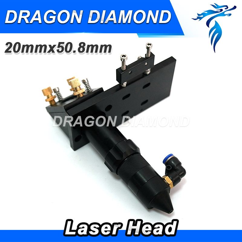 Co2 laser head for laser cutting engraving machine Focus Length 50.8 2inch laser lens 20mm laser mirror 25mm dia40mm focal length 150mm 2 pieces combined yag cutting machine laser focus lens