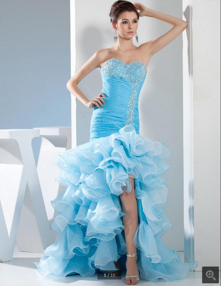 2016 new designer mermaid   prom     dress   beading crystals pleated   prom   gowns ruffled formal   prom     dresses   best selling