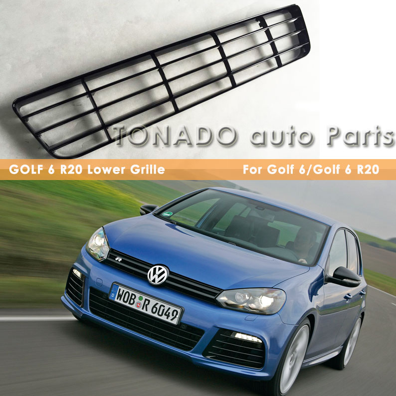 ФОТО Golf 6 R20 ABS MirageBlack Front Bumper Lower Grille Fit For Golf MK6 R20