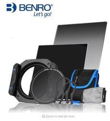 Benro FM75 vierkante insert filter 75mm houder 75x100mm GND8 (0.9) gradient grijs + ND16 filter kit