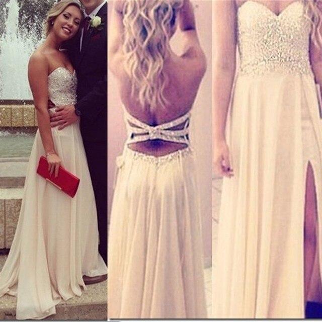 4f4b1abd22 Vestidos de formatura curto Lujo Beads Vestidos de Noche Largos 2016 Por  Encargo de la Nueva