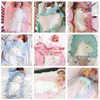 Unicorn Baby Infant Kids Soft Warm Blankets Bedding Props