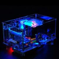 QDIY PC D777XL E ATX Personalized Acrylic Pure Transparent Computer Desktop Game Computer Case