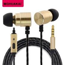 MGHUAKAI Dual Driver Earphone Aluminum Alloy Headset High Resolution Microphone Earbuds For K Songs Mp3 Mp4 chakira nazca бобби соло мартин лопез eclipse love songs mp3