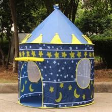 Tienda de campaña plegable portátil para niños, castillo, casa de juego para niños, tienda de juguete al aire libre, 7 estilos de princesa Príncipe