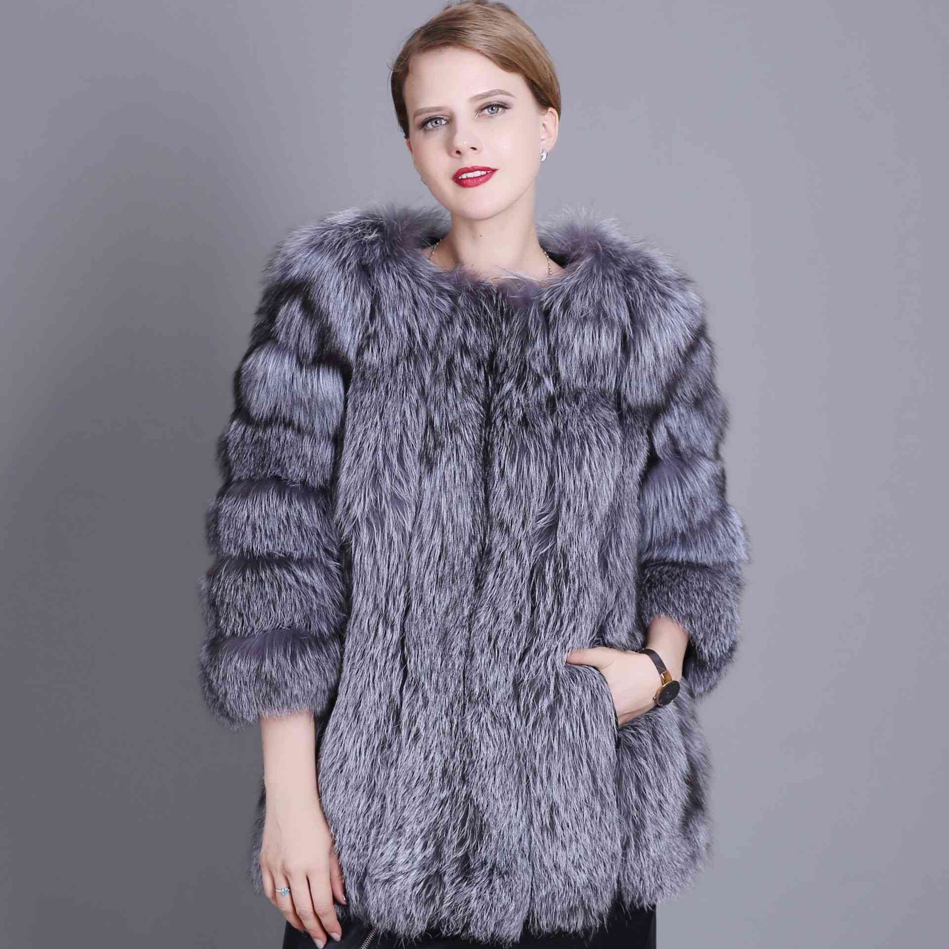 2018 new foreign trade genuine fur fox fur coat waistcoat vertical strip quick sell a substitute factory straight