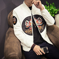 Spring Jacket Men Fashion 2017 New Mens Casual Bomber Jacket Korean Slim Fit Mens Coats Long Sleeve Patch Design Windbreaker 5XL