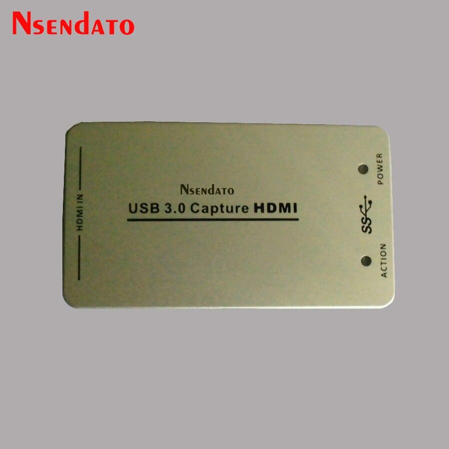 1080 p USB3.0 USB 3.0 60FPS HDMI Capture Dongle carte USB HD Capture HDMI 1.4a adaptateur pour Windows 7 Windows Server/Linux OSL