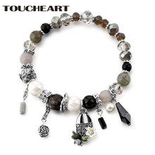 Toucheart высококачественный Кристальный браслет с подвеской