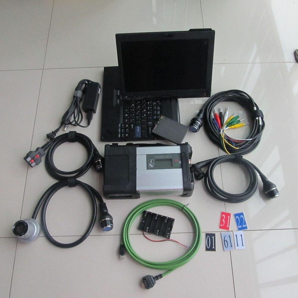 Prix pour Super MB Star C5 avec Ordinateur Portable MB C5 SD connecter + SD Étoiles c5 v2017.05 ssd voiture de diagnostic logiciel + pour lenovo ordinateur portable x200t pour sd c5