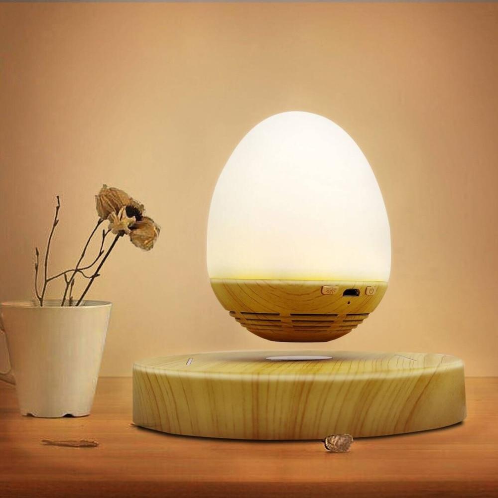Multi-functional Egg Shape USB Charging LED Night Light Innovative Magnetic Levitation Wireless Bluetooth Speaker smart sensor ufo shape usb charging bedside led night light