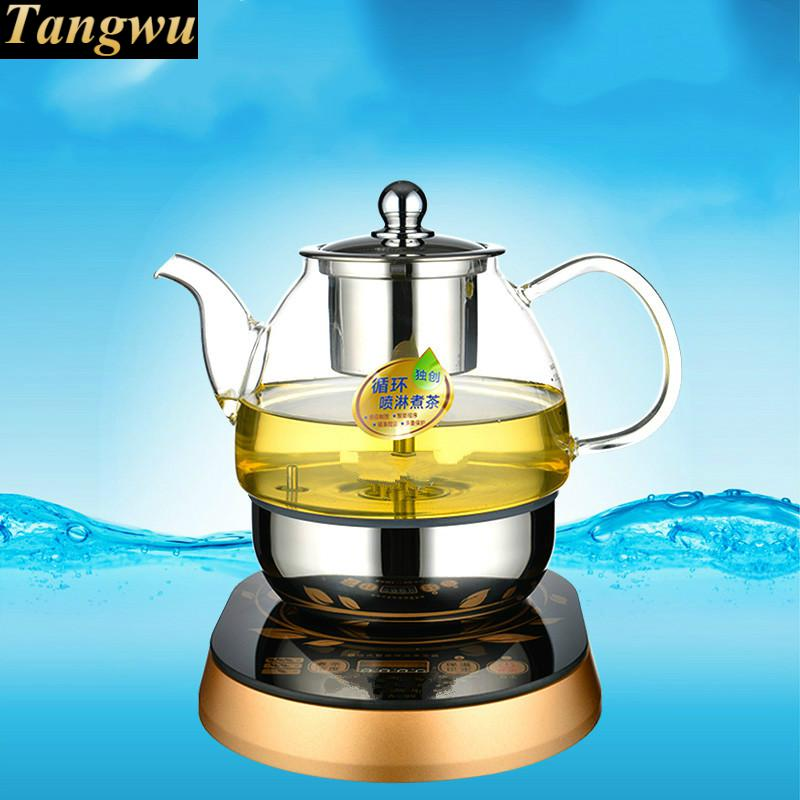 Fully automatic tea kettle electric teapot boiling black pu 'er glass pot coffee machine stove Anti-dry Protection black tea brewed machine glass automatic steam boiling pu er flower teapot insulation electric kettle