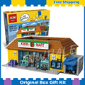2232 шт. Новые Симпсоны Kwik-E-Mart 16004 DIY Модель Строительство Комплект Блоки Подарки Детские Игрушки, Совместимые с Lego