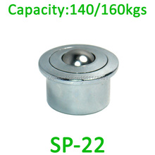 SP-22 Heavy Steel Air Cargo Ball transfer unit 160kgs load capacity SP22 conveyor Euro type ball bearing caster roller