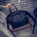 2016 Fashion Women Leather Handbag Women Bag  Brief Shoulder Bags Gray /black Large Capacity Luxury Handbags Women Bags  F617