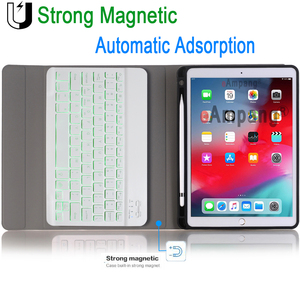 Image 3 - Backlit Keyboard Case for Apple iPad Air 10.5 2019 Air 3 Case for iPad Pro 10.5 2017 Bluetooth Keyboard Cover Funda Pencil Slot