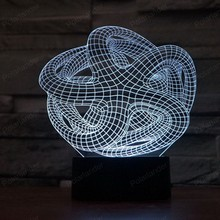 Home decortion Abstract 3d Novelty Lighting Creative 3D illusion Lamp LED Night Light lamparas Atmosphere Lamps