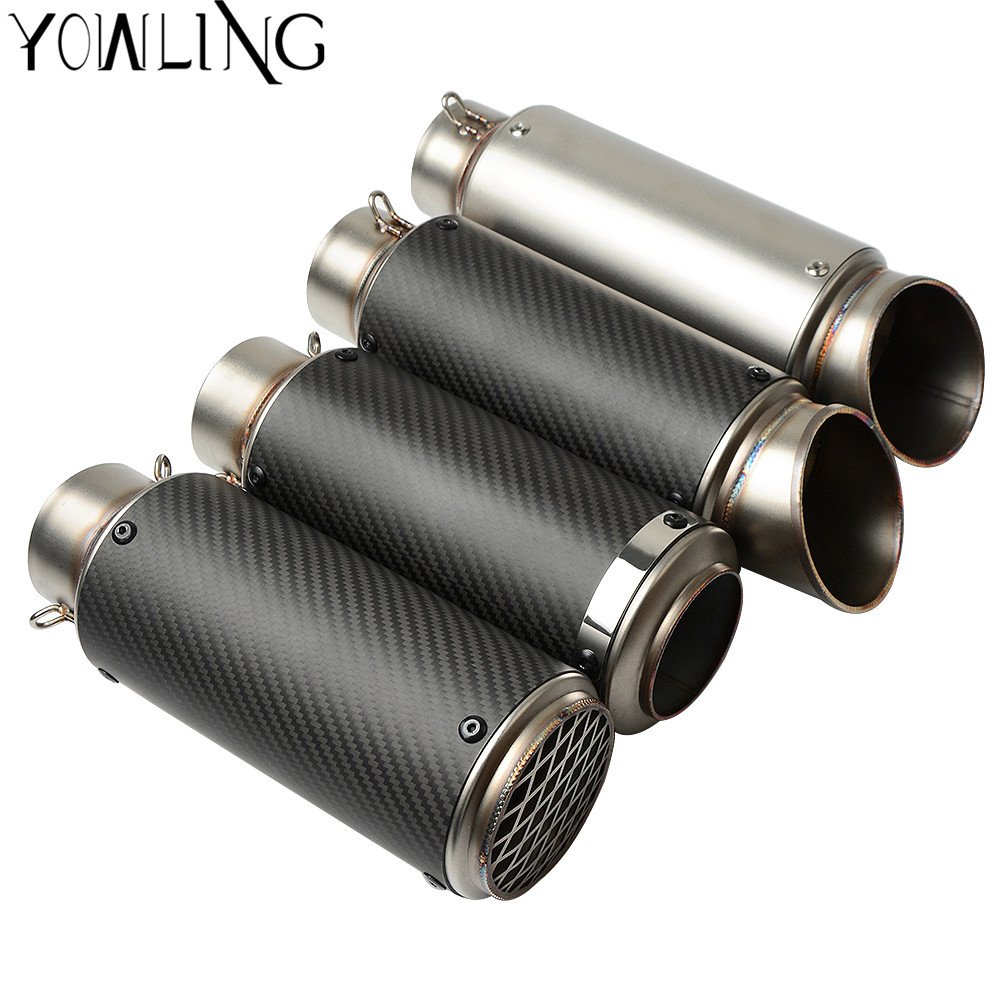 Motorcycle modified muffler carbon fiber <font><b>exhaust</b></font> pipe For <font><b>Kawasaki</b></font> <font><b>Z750</b></font> Z750R Z750S R Z800 /E version GSX1300R GSXR600 GSXR750 image