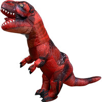 Inflatable red Dinosaur T REX Costumes for Blowup T Rex Dinosaur Halloween Inflatable Costume Mascot Party Costume for Adult