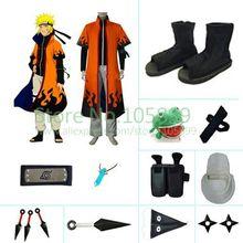 Узумаки 6th Хокаге Хэллоуин Косплэй костюм набор из Наруто