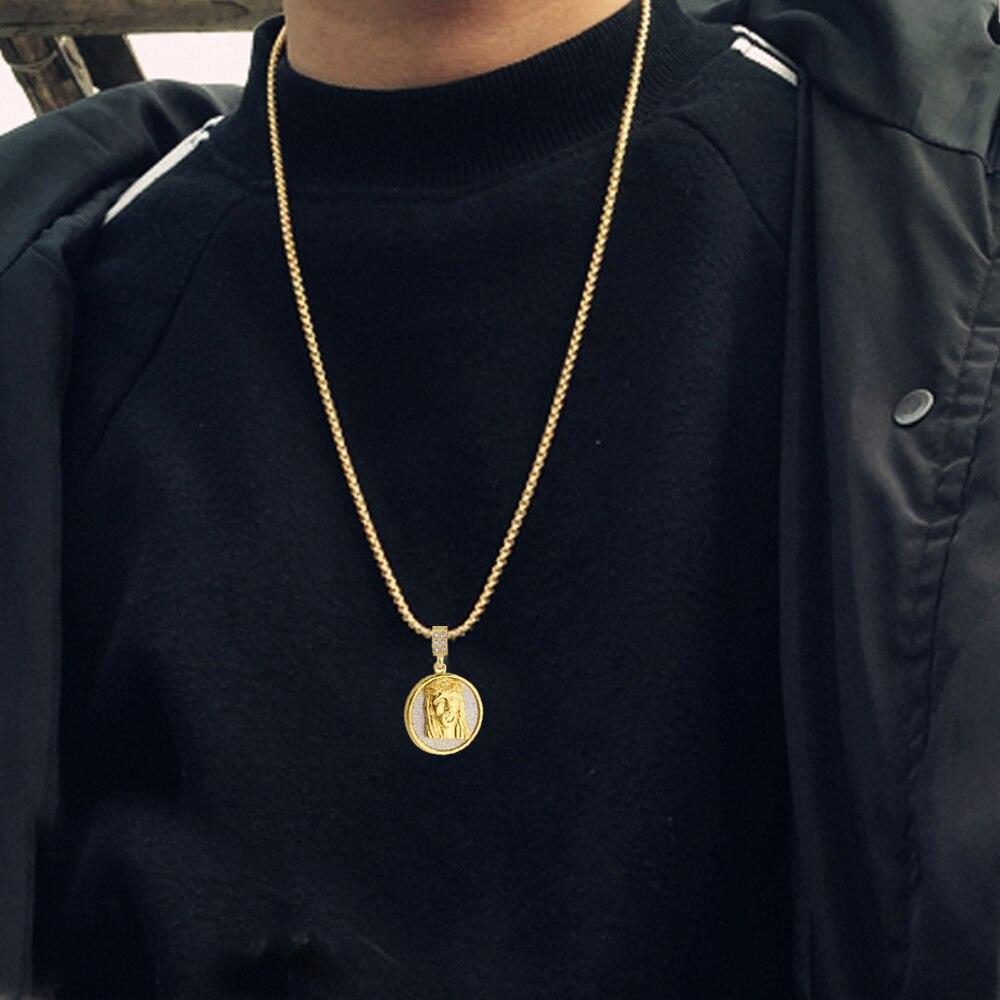 Crculo de oro jess rhinestone mini jess collar colgante crculo de oro jess rhinestone mini jess collar colgante decorativo y cubano collar trenzado en colgantes de joyera y accesorios en aliexpress aloadofball Choice Image