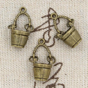 4pcs Charms Movable Bucket Pail 24x12x7mm Antique Making Pendant fit,Vintage Tibetan Bronze Silver color,DIY Handmade Jewelry