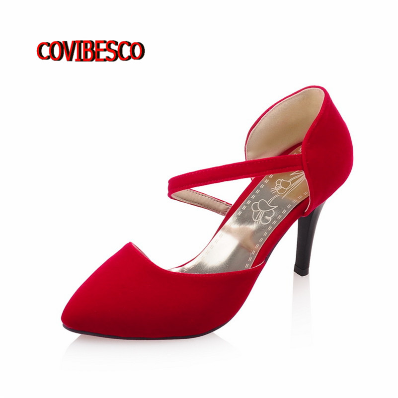 Women Pumps 2016 Brand Design Y High Heels Wedding Party Woman Shoes Red Blue Black Pointed Toe Zapatos Mujer