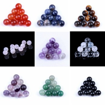 yaye 10pcs Natural Semiprecious Stones Gemstone Roller Ball No Holder Essential Oil Perfume Bottle Refillable Polished Whosale