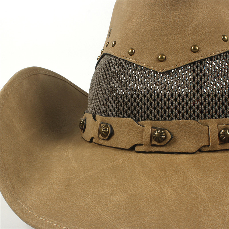 Western Leather Cowboy Hats for Women & Men 16